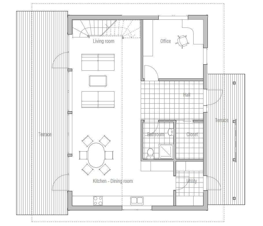 small modern house ch50