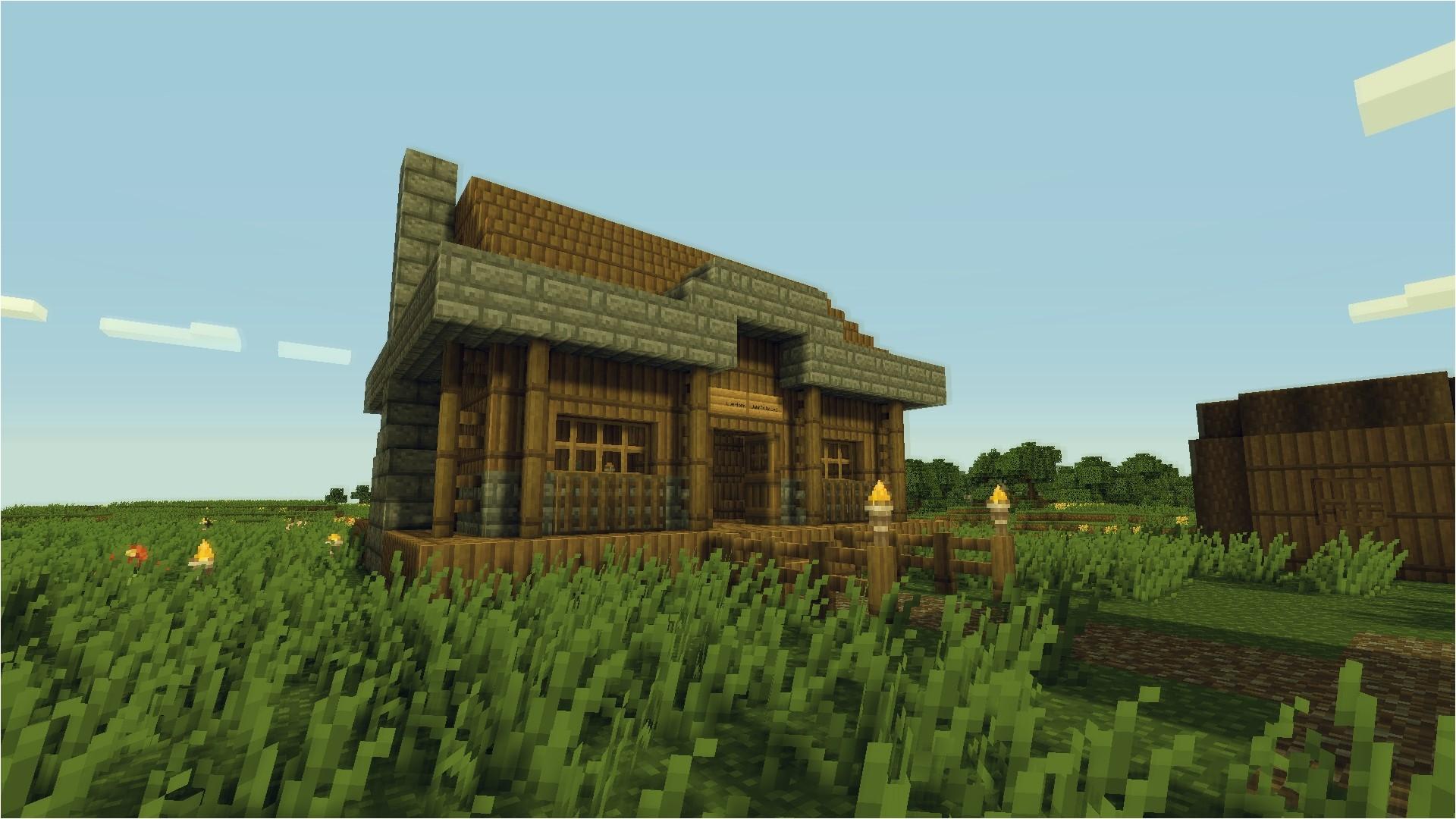 minecraft small village house design