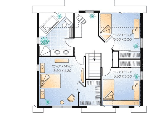 smart house plan with alternate garage 2151dr