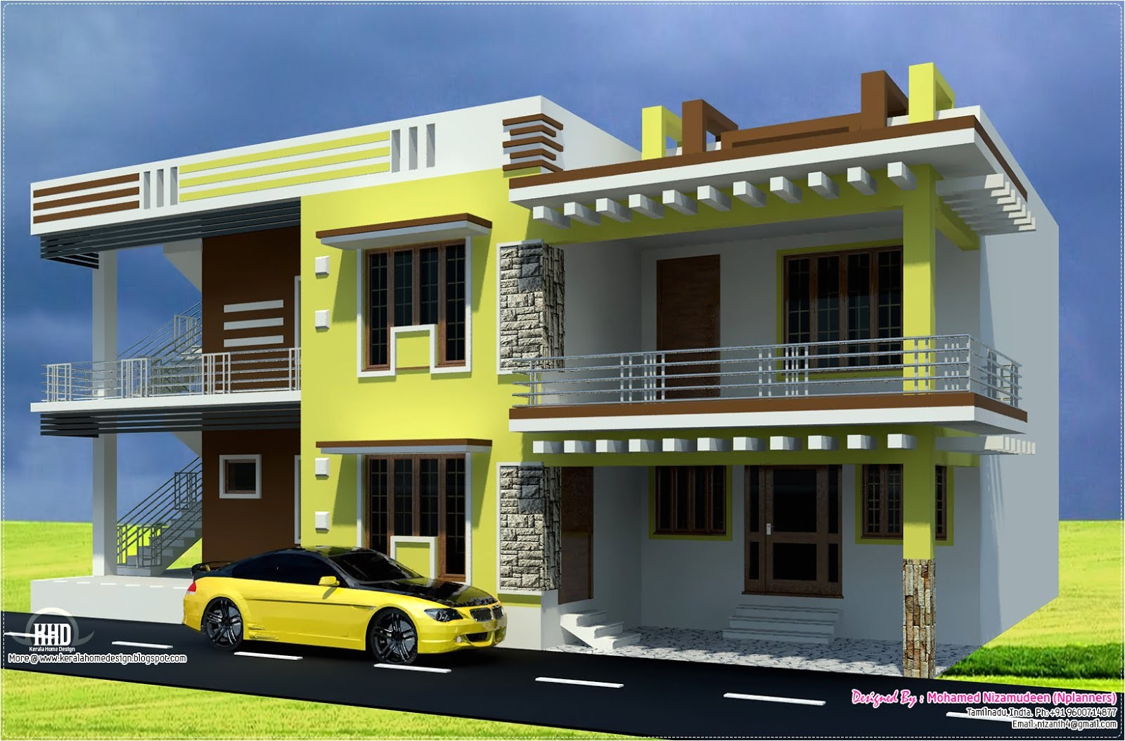 south indian home design in 2700 sqfeet