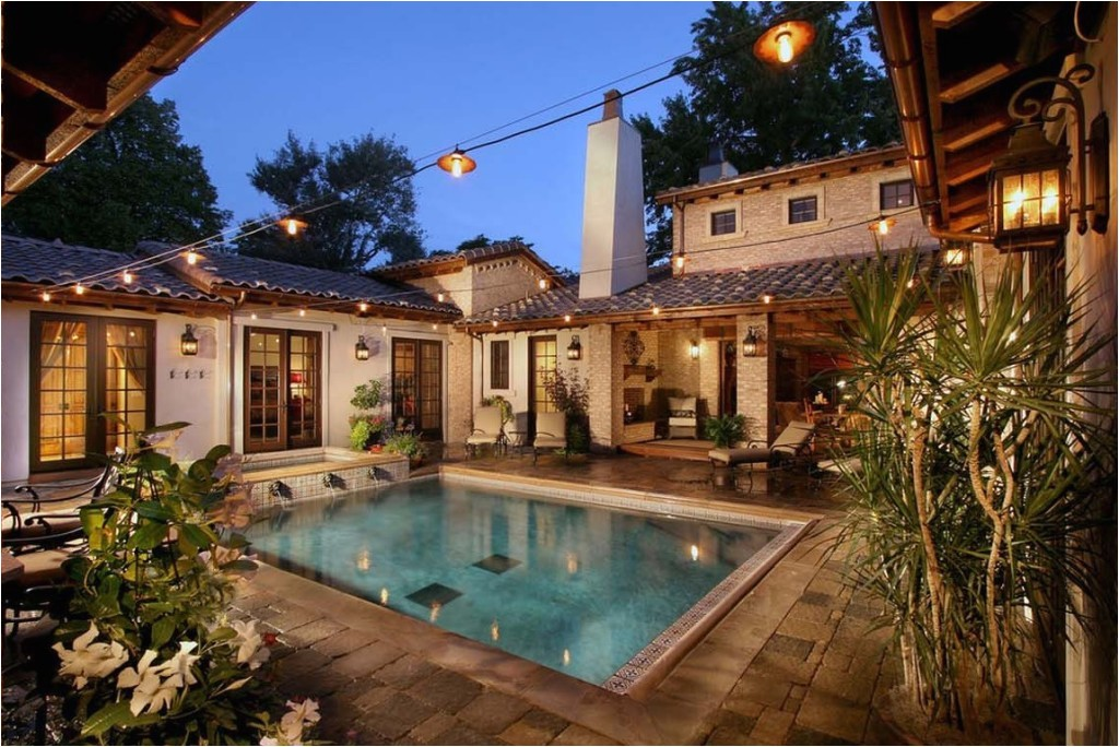 lovely spanish style house plans with interior courtyard