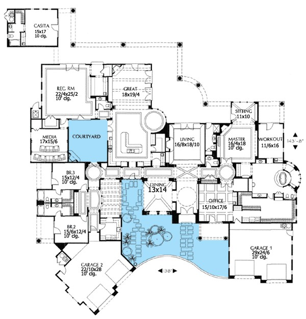 spanish courtyard house plans plan w16326md luxury spanish mediterranean house plans home