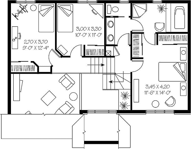 2 bedroom split level house plans