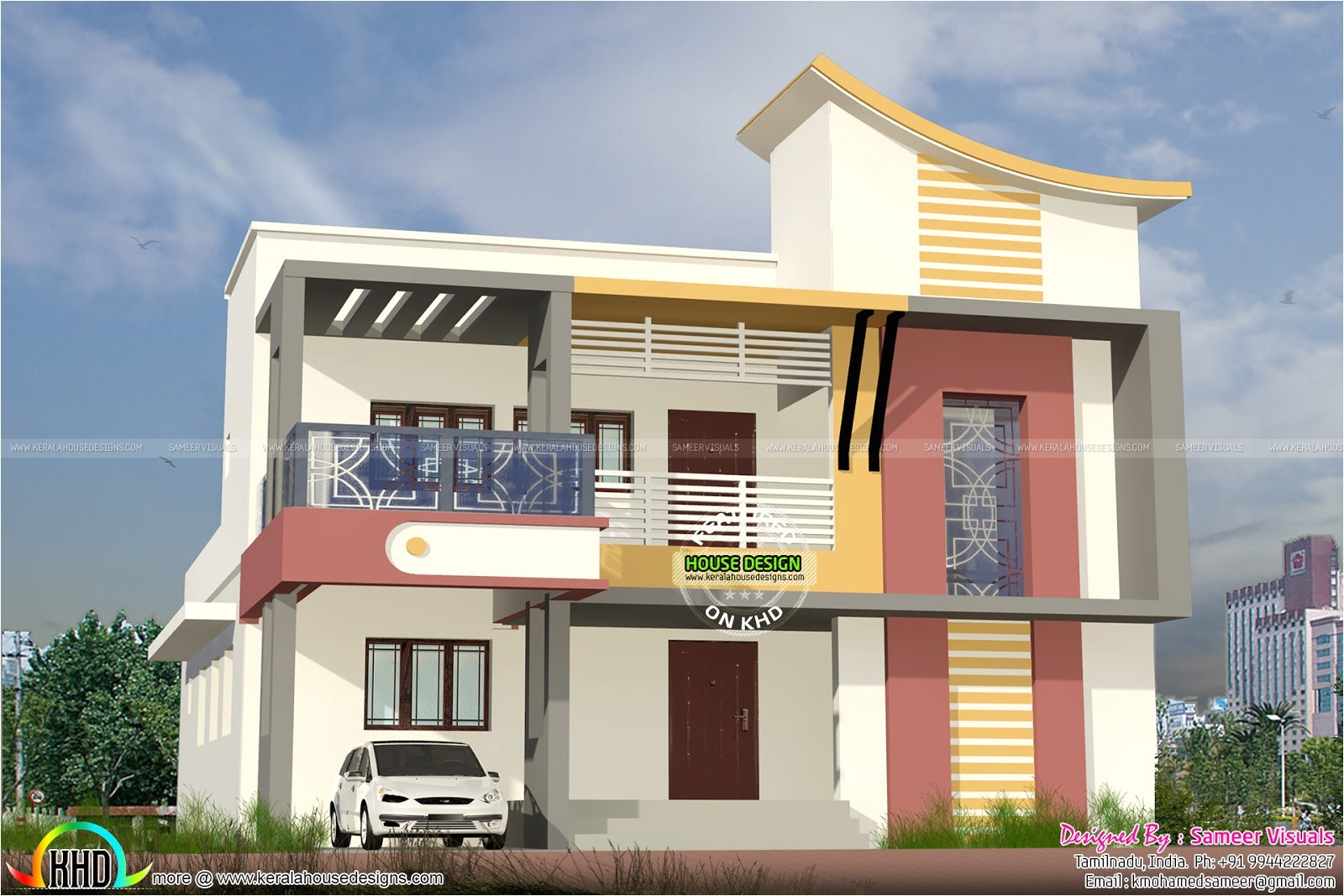 tamilnadu model modern home