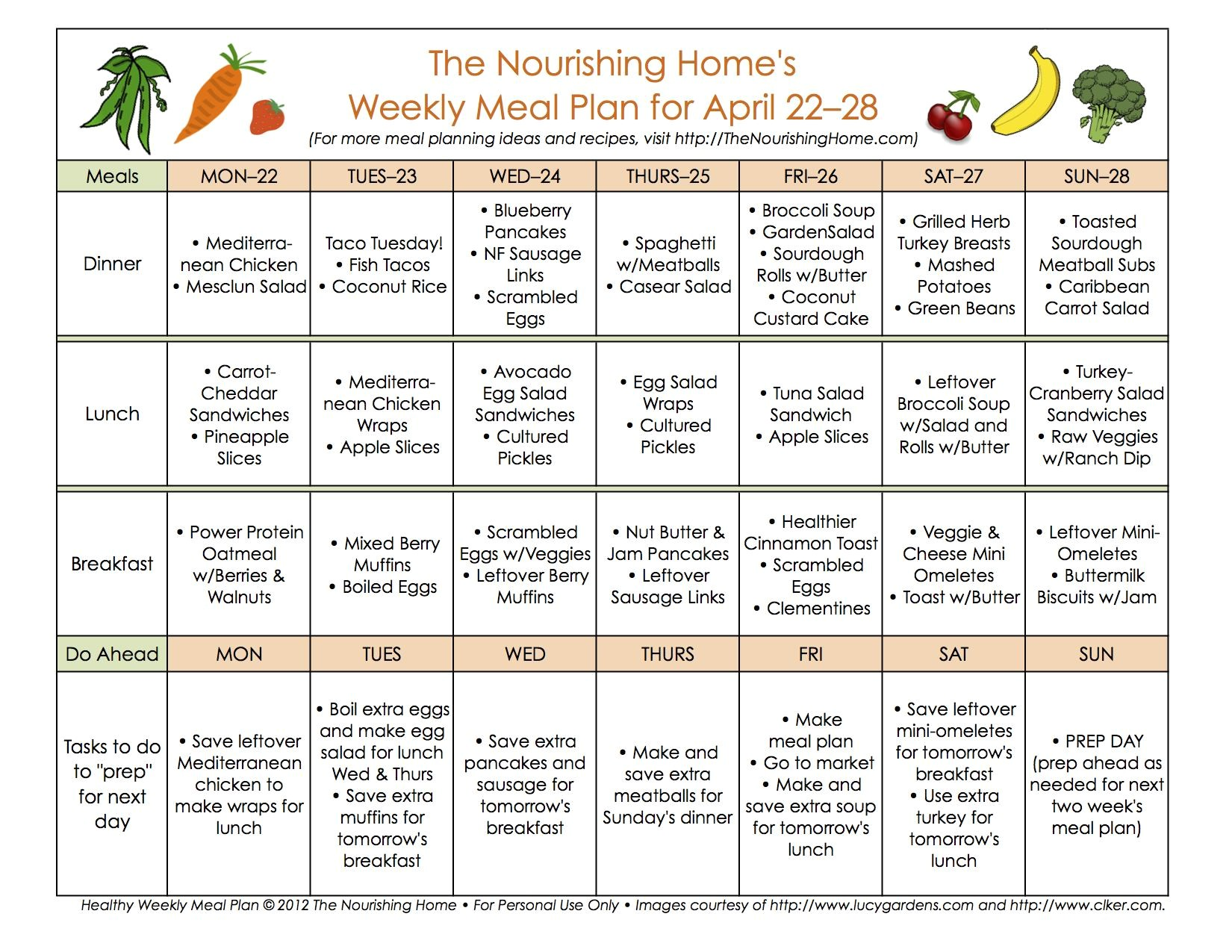 meal plan monday april 15 28