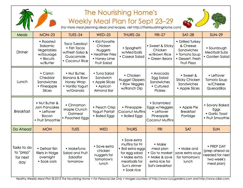 meal plan monday september 16 29