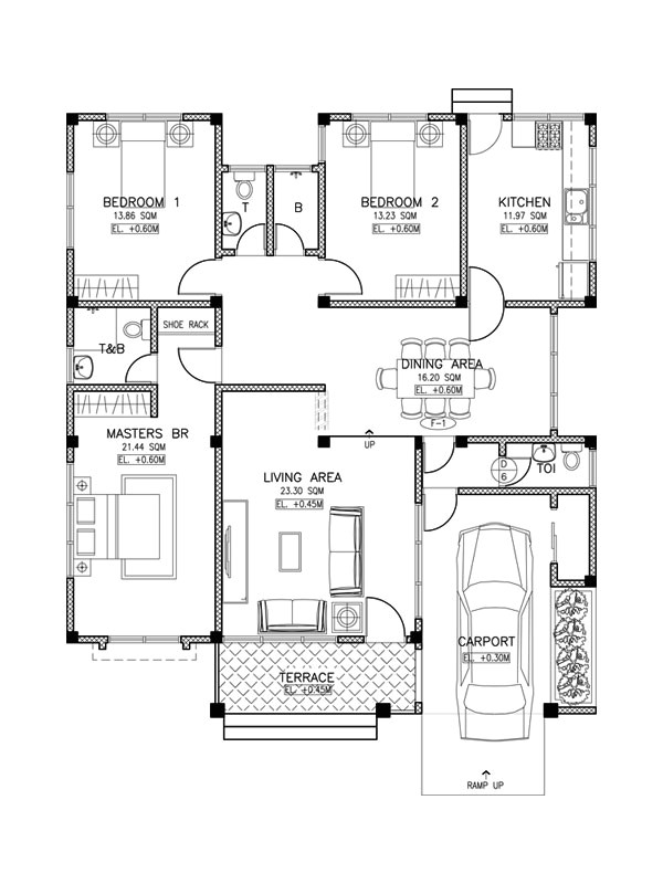 simple 3 bedroom house plans layout and
