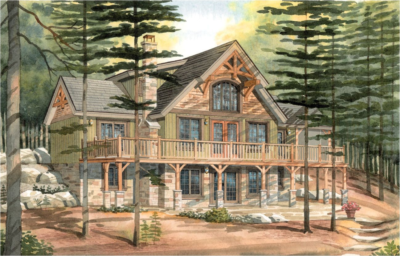 timber frame house plans with basement