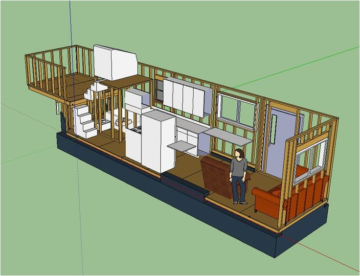 Tiny House Plans for 5th Wheel Trailer Tiny House Layout Has Master Bedroom Over Fifth Wheel