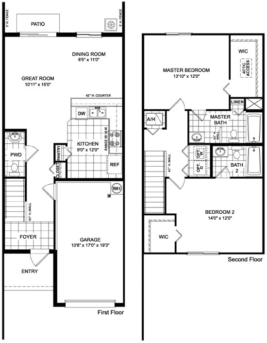 townhouse floor plans