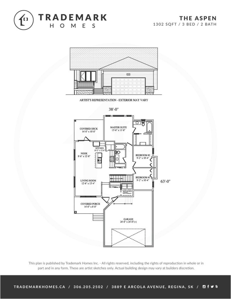 trademark homes floor plans awesome the aspen bungalow trademark homes regina and area home builder