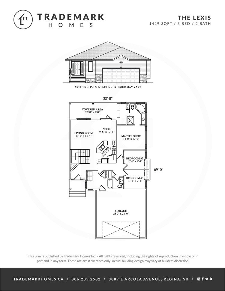 trademark homes floor plans beautiful the lexis bungalow trademark homes regina and area home builder