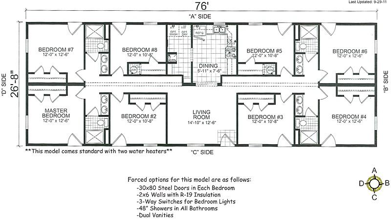 4 bedroom mobile home floor plans