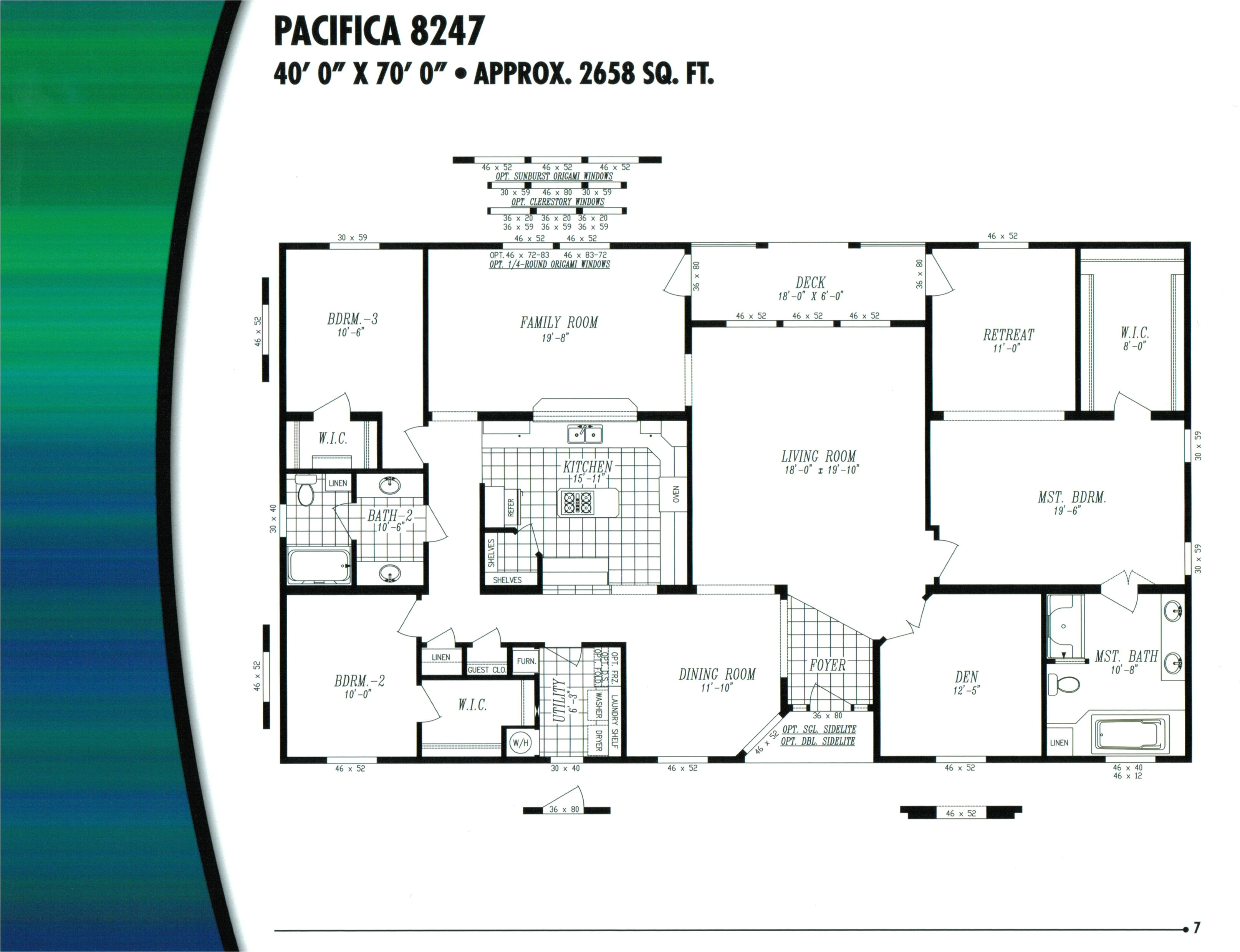 houseplanse triple wide mobile home floor plans 532968 2