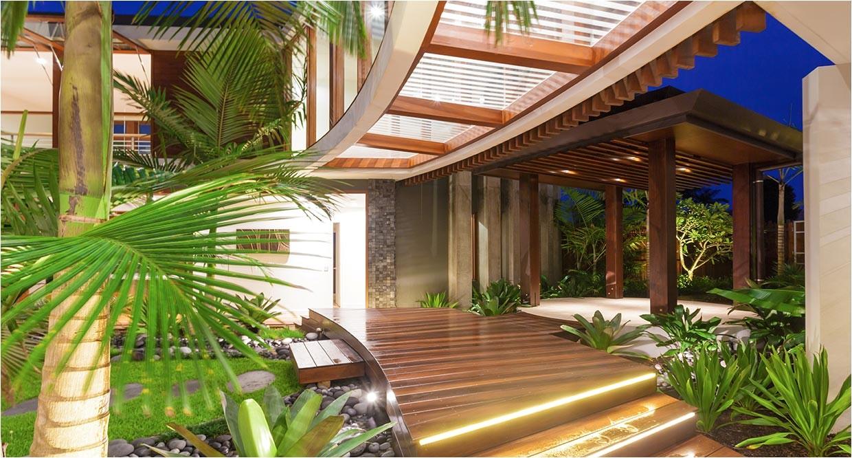 idea unique tropical style house