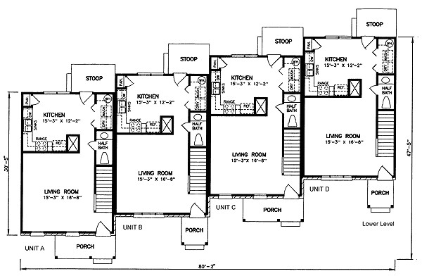 multi family plan 45352