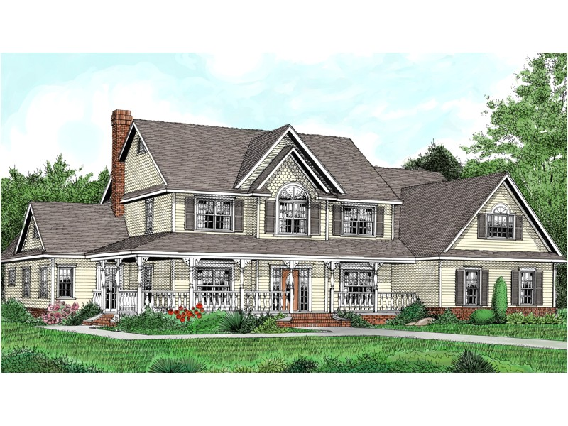 two story house plans with wrap around country porch