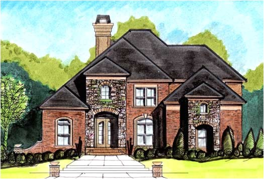 french country style house plans 2792 square foot home 2 story 4 bedroom and 4 bath 2 garage stalls by monster house plans plan66 335