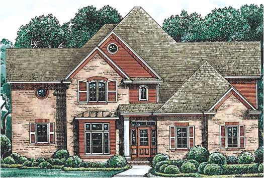 french country style house plans 2830 square foot home 2 story 4 bedroom and 3 bath 3 garage stalls by monster house plans plan10 1214