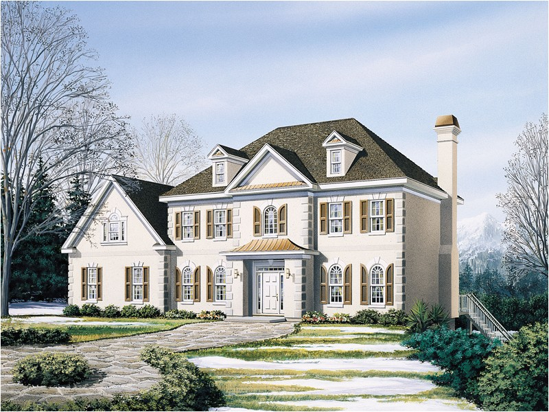 two story french country house plans