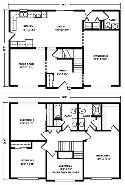 Two Story Mobile Homes Floor Plans Two Story Modular Floor Plans Kintner Modular Homes Inc In