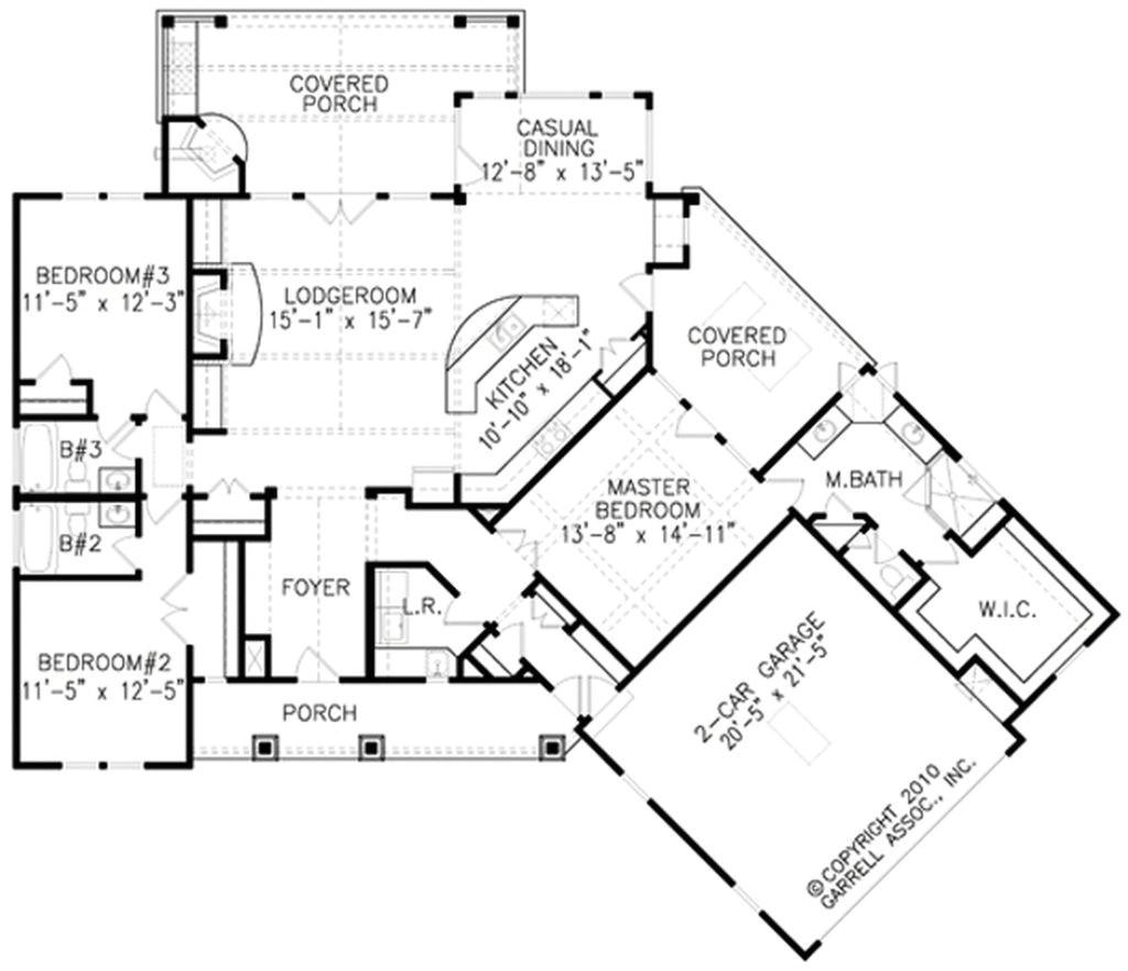 unique 3 bedroom house plans