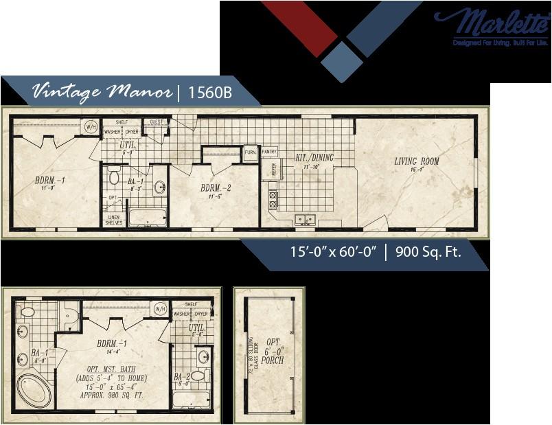 vintage mobile home floor plans