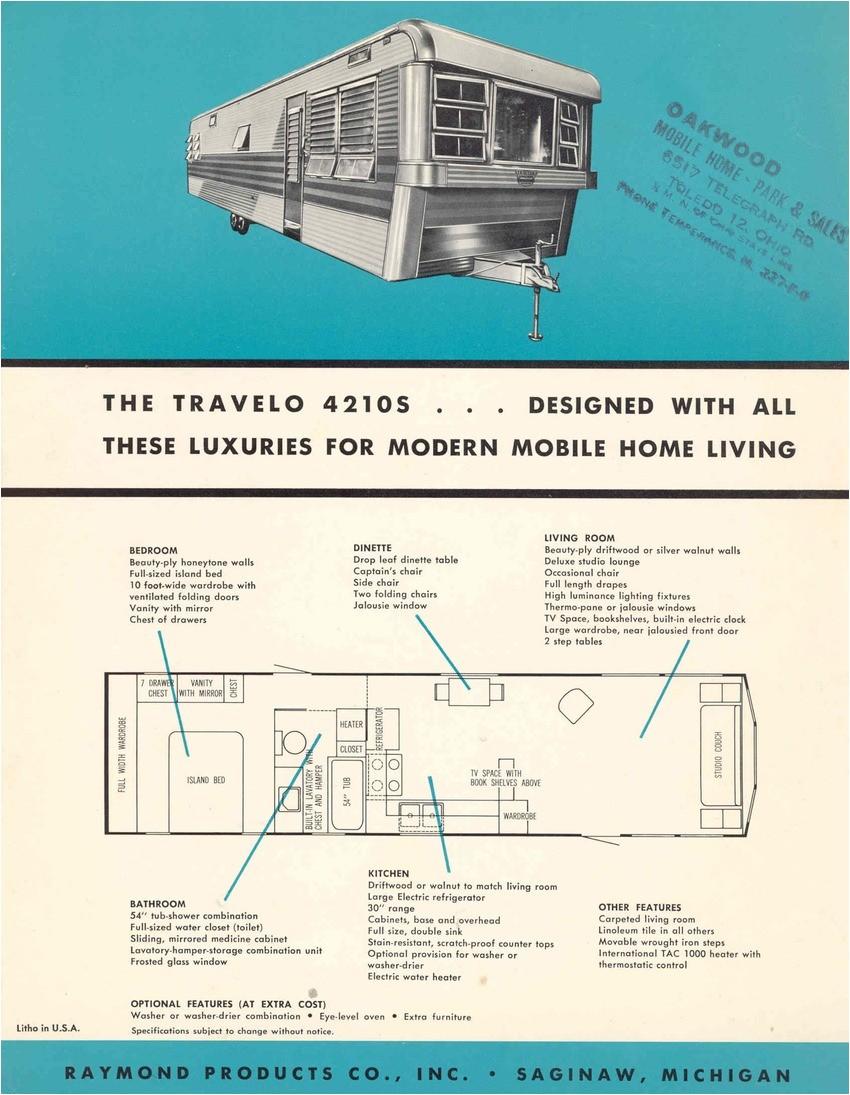 vintage mobile homes floor plans