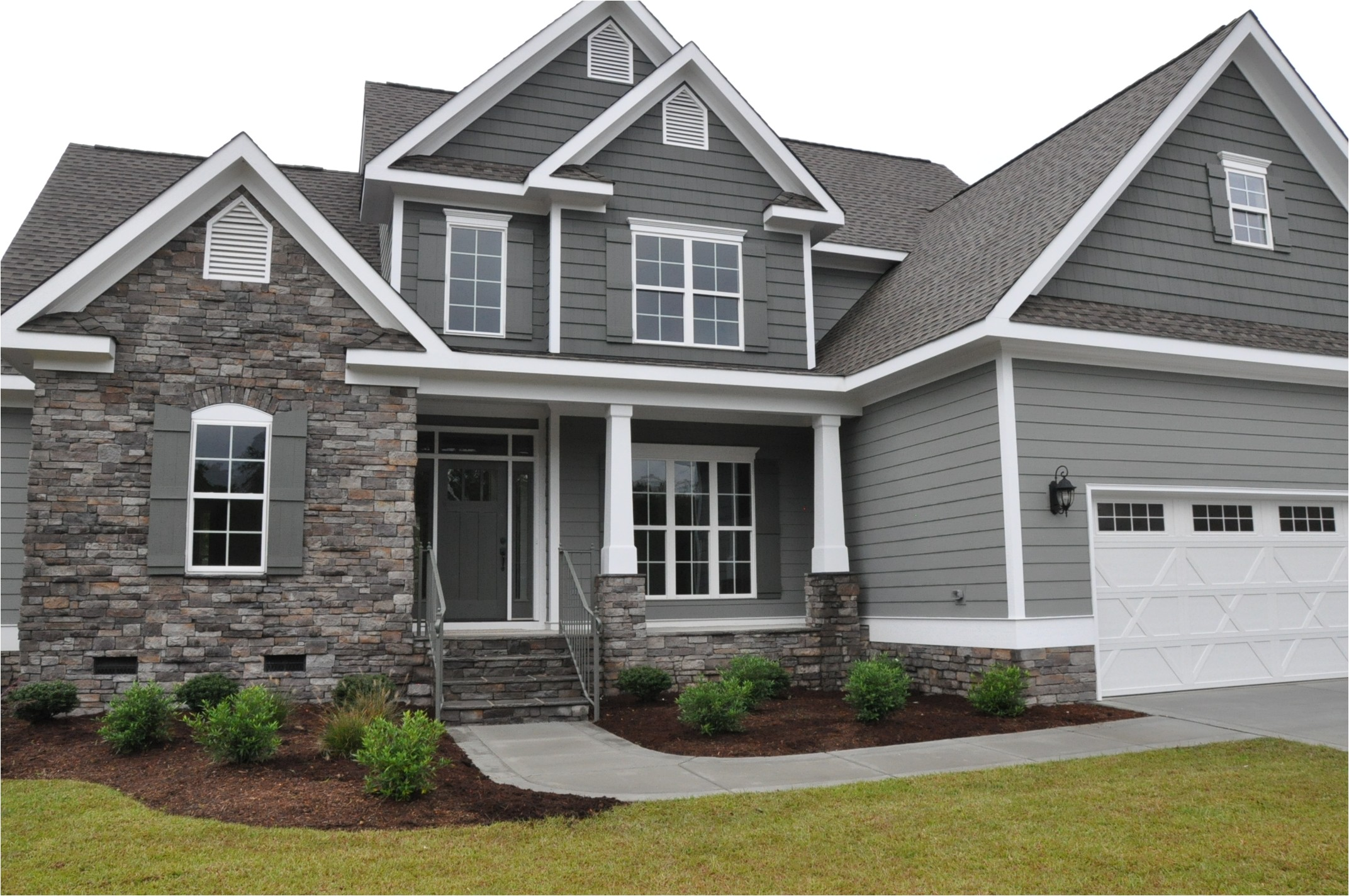 house plans with stone and siding