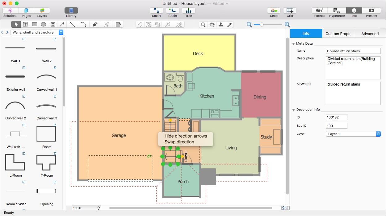 Visio Home Plan Template Visio House Plan Tutorial