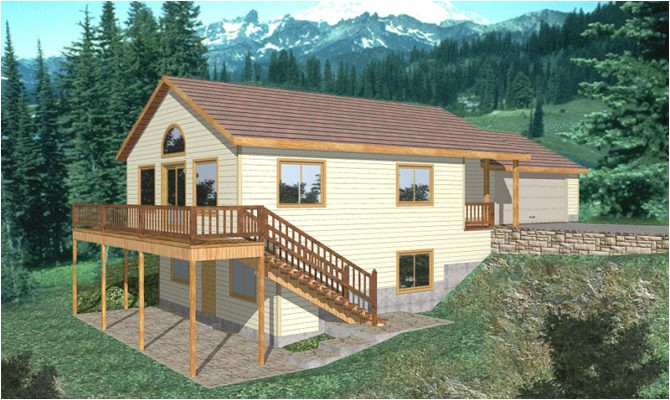 awesome lakefront house plans sloping lot pictures
