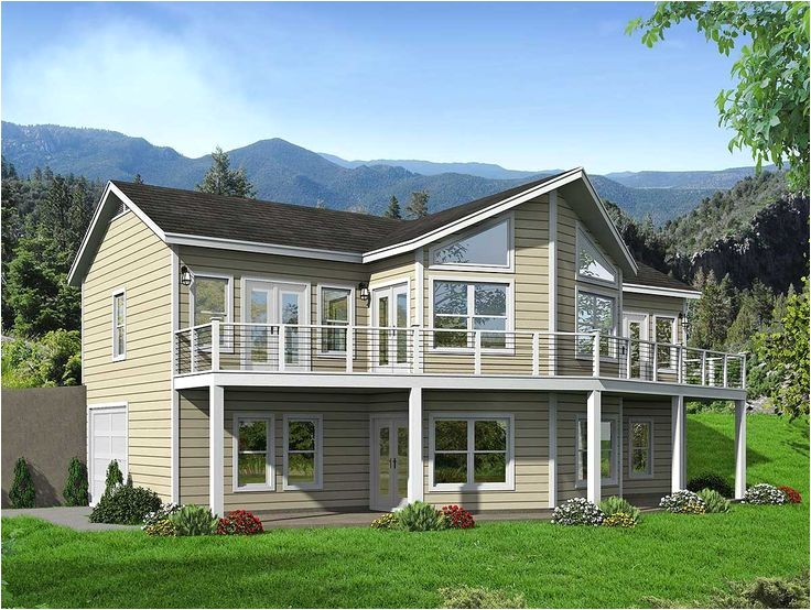 lakefront house plans sloping lot