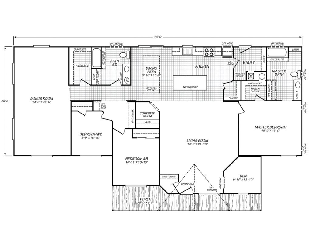 waverly crest 40703wfleetwood homes manufactured homes for fleetwood homes floor plans