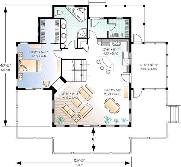 four season vacation home plan 2177dr