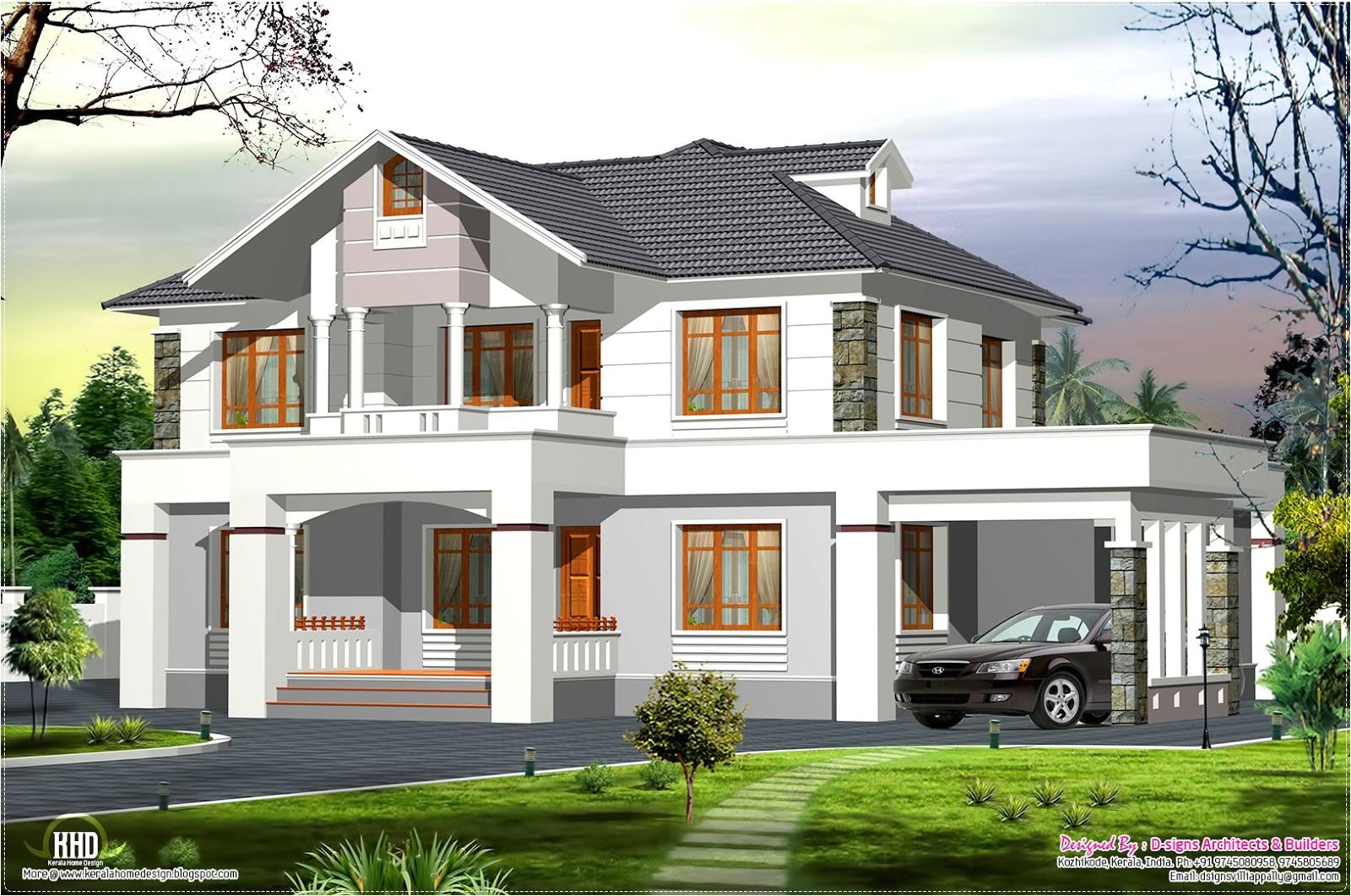 Western Home Plans 2400 Sq Feet Western Style Home In Kerala Kerala Home