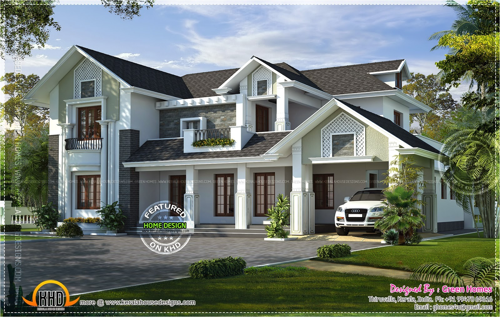 western style house rendering