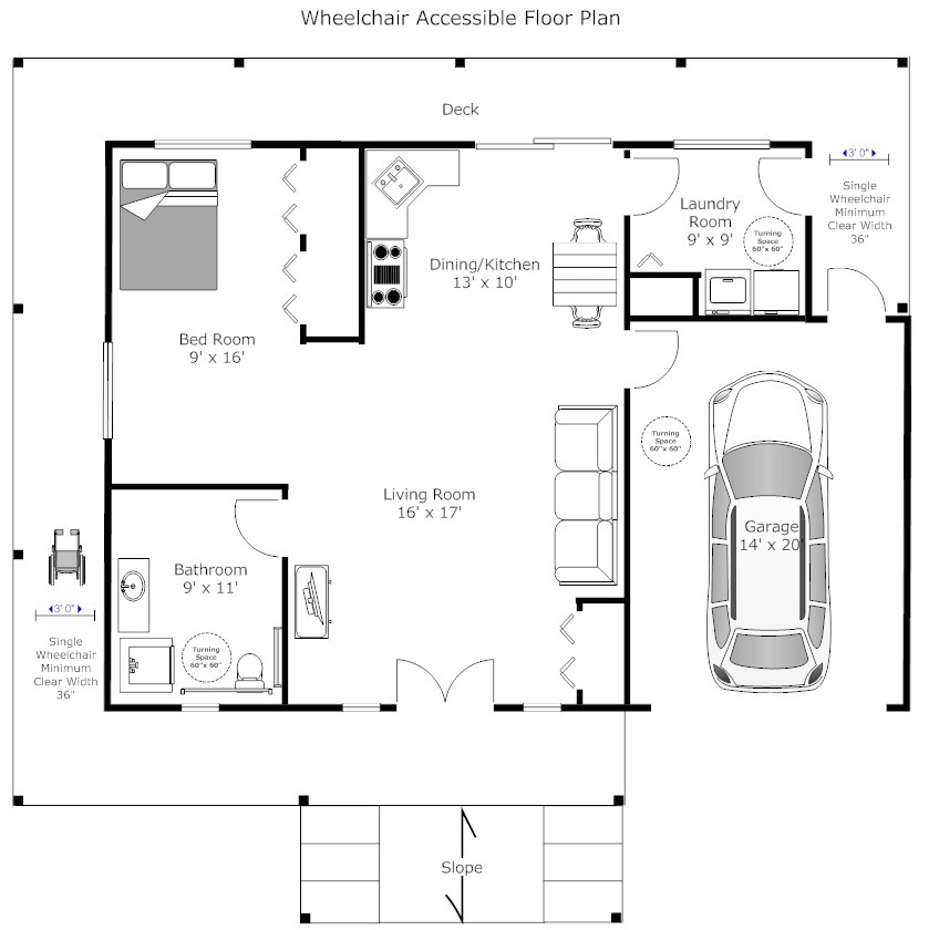 Wheelchair Accessible Tiny House Plans Accessible House Plans Smalltowndjs Com