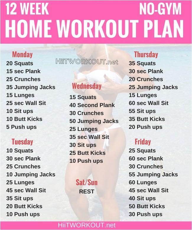 12 week no gym home workout plan