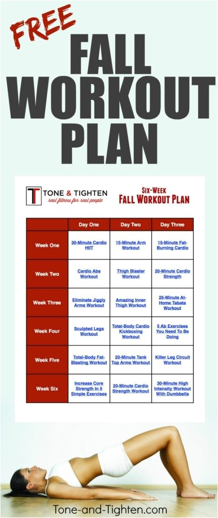 free 6 week fall workout plan