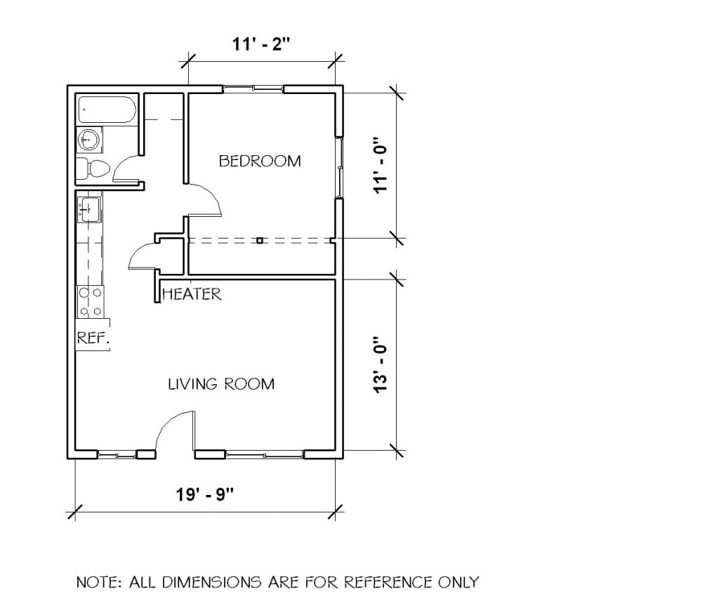 1 bedroom duplex house plans