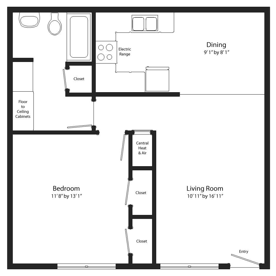 simple 1 bedroom house plans