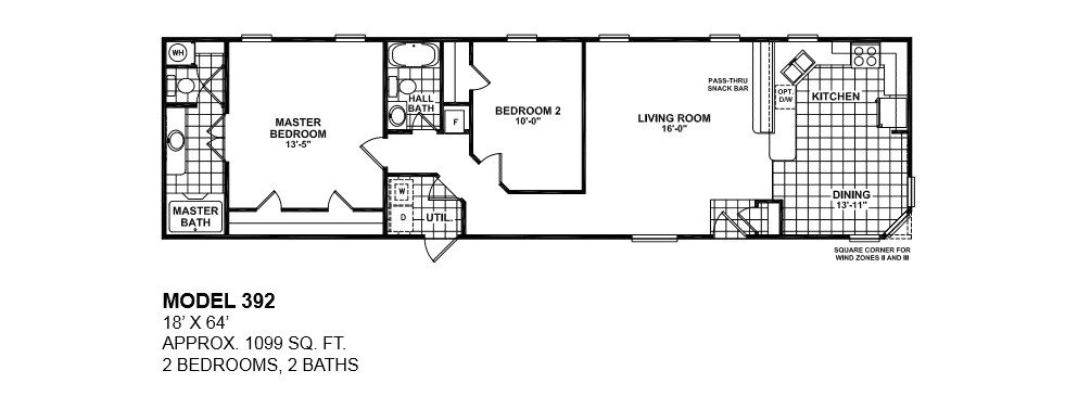 single wide mobile home floor plans 2 bedroom