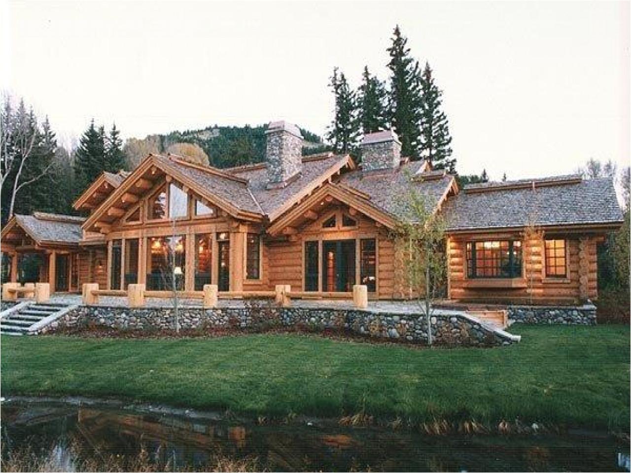1 Story Log Home Plans 1 Story Log Home Plans Log Cabin Ranch Homes Ranch Log