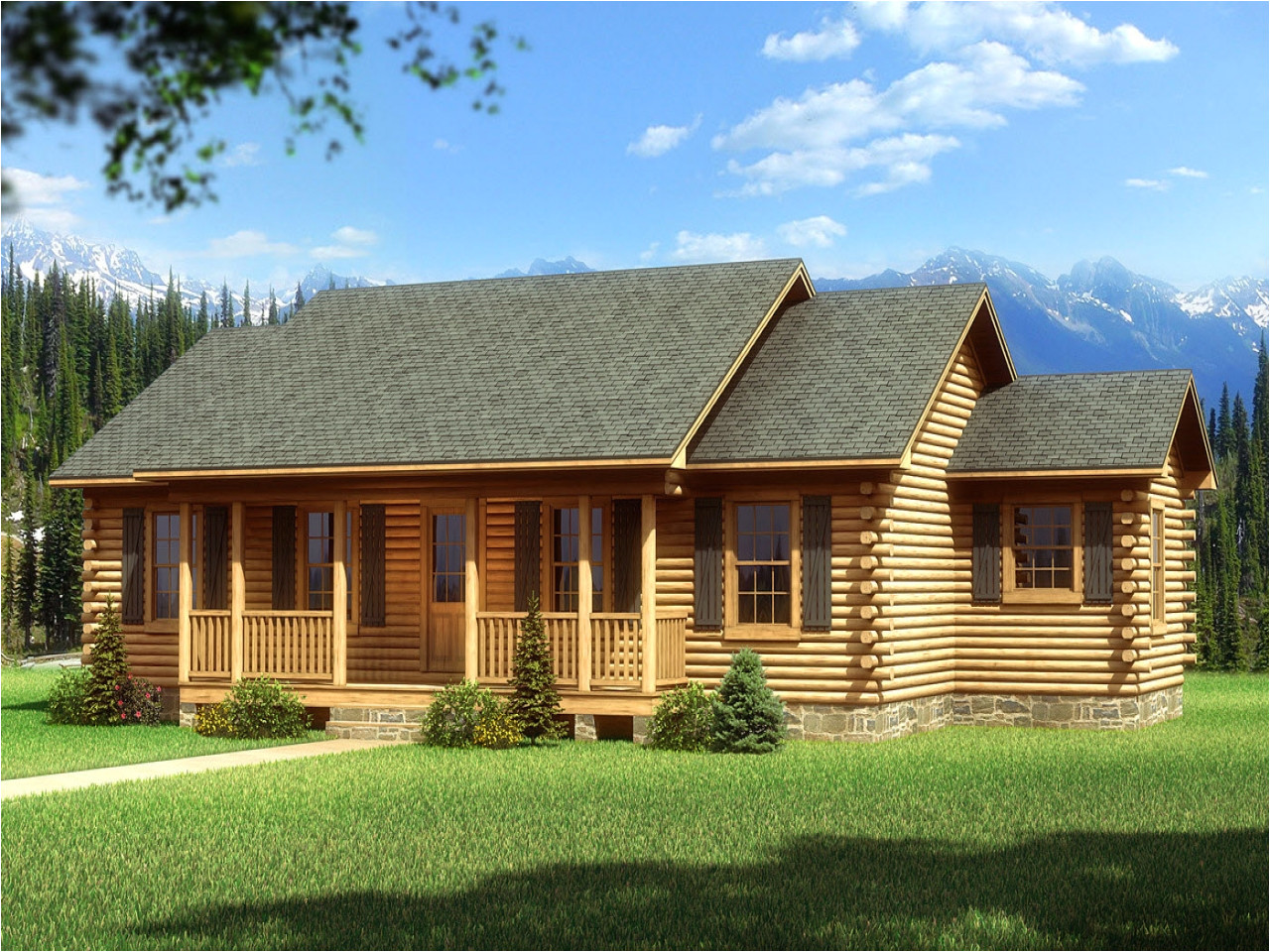 d1f1cf09d5a61419 single story log cabin homes plans single story cabin plans mountain