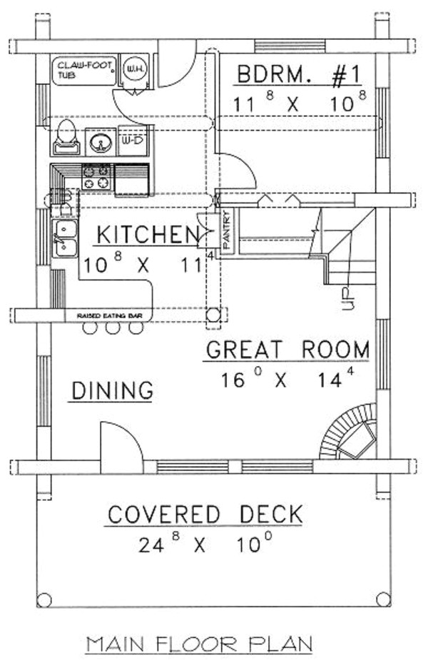 1040 square feet 1 bedrooms 1 bathroom log homes house plans 0 garage 27501