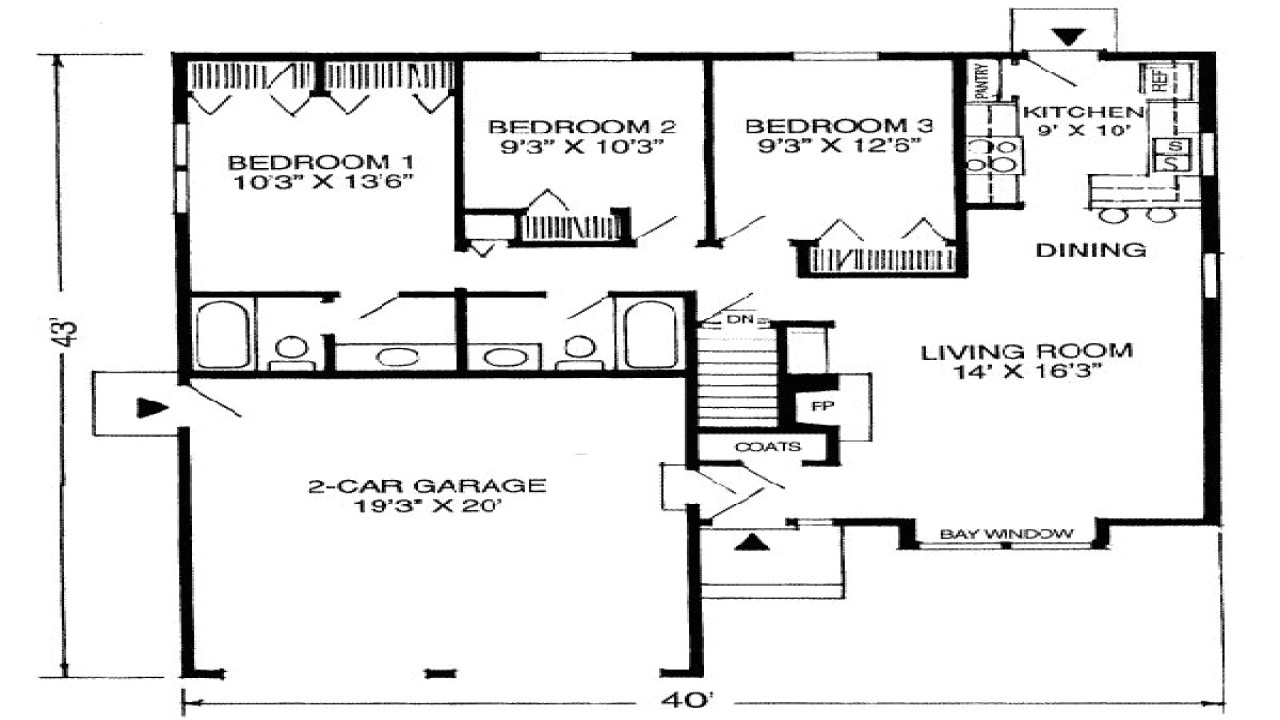 c4586c3377f08d85 1100 square feet house plans floor plans 1100 square feet