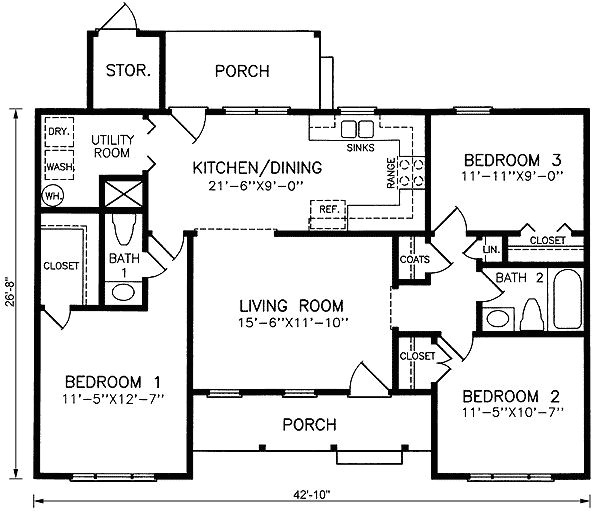 1100 sq ft home plans