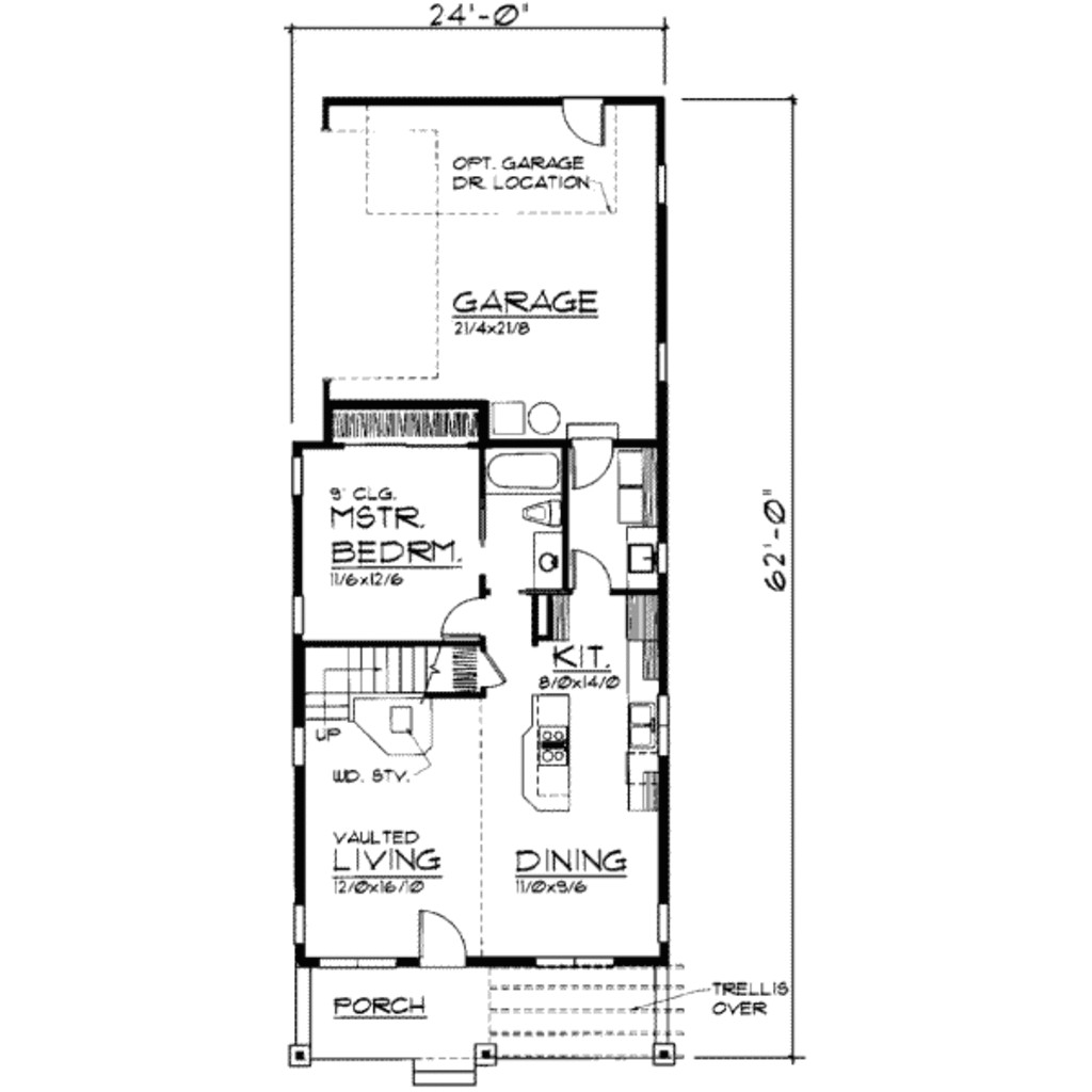 1250 square feet 3 bedrooms 2 bathroom traditional house plans 2 garage 19005