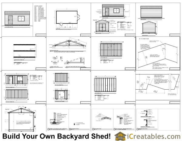 12x20 bt backyard tall shed plans