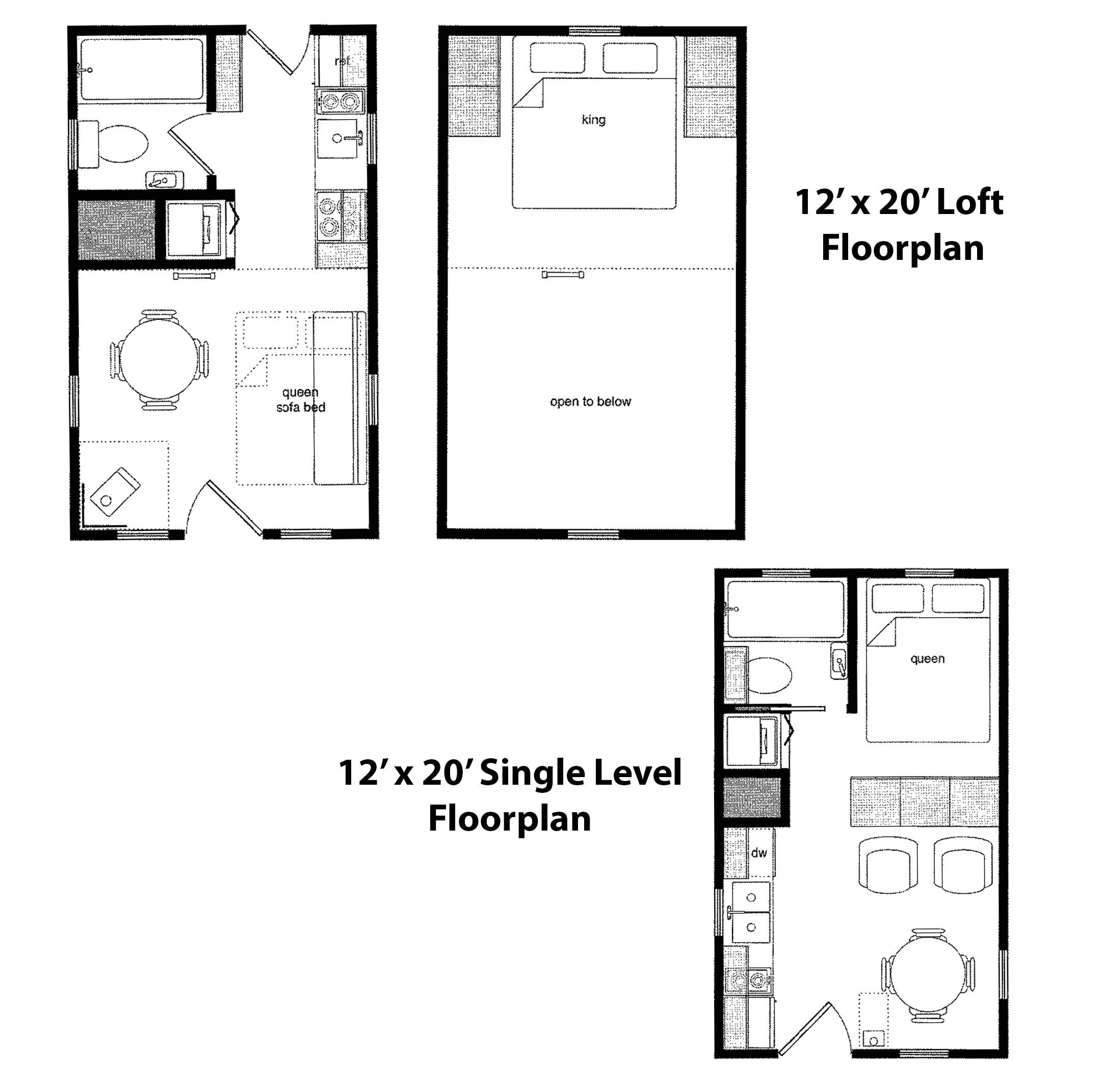 cabins 12 x 24 plans